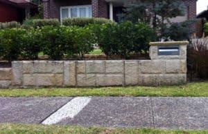 sandstone letterbox