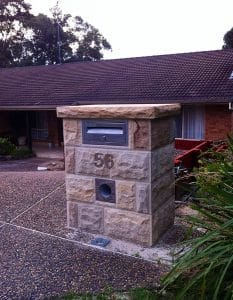 sandstone letterbox
